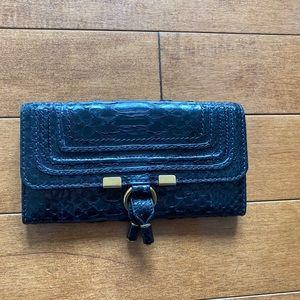 Chloé Marcie wallet in black snake leather